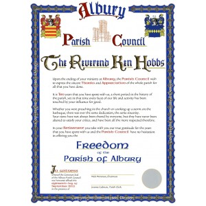 Albury Parish Council - Freedom Certificate