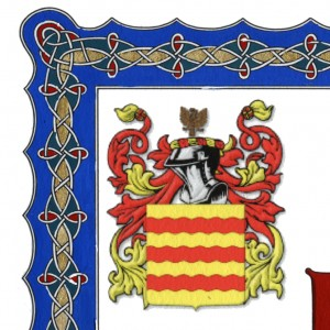 Highlight - Border corner including heraldic design