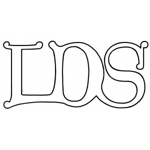 Design Element - LDS letter logo drawing
