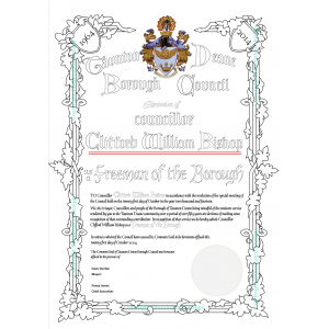 Layout - Combining the design elements into a certificate