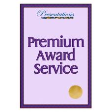 Premium Award Certificate