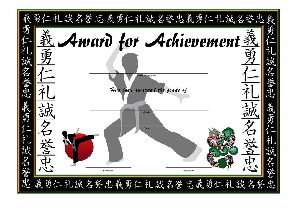 Arts Grading Award Certificate
